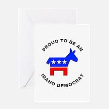 Idaho Democrat Pride Greeting Card