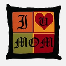OYOOS I Love Mom design Throw Pillow