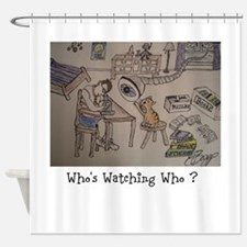 DELMAR - Whos Watching Who ? Shower Curtain