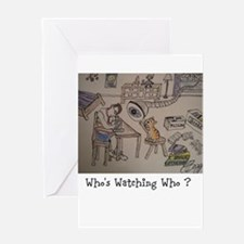 DELMAR - Whos Watching Who ? Greeting Card