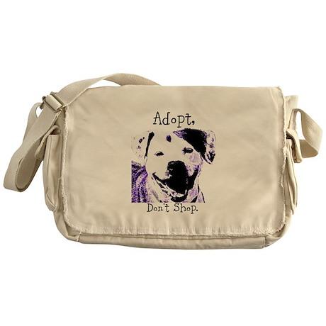 Adopt Don't Shop Dog 2 Messenger Bag