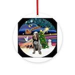 Xmas Magic & Roan Spinone Ornament (Round)