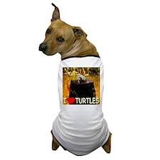 I Love Turtles Dog T-Shirt