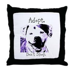 Adopt Don't Shop Dog 2 Throw Pillow