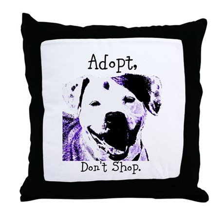 Adopt Don't Shop Dog 2 Throw Pillow