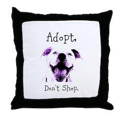 Adopt Don't Shop Dog 1 Throw Pillow