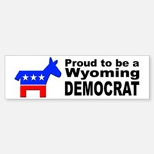 Wyoming Democrat Pride Bumper Bumper Sticker