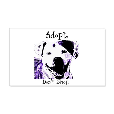 Adopt Don't Shop Dog 2 20x12 Wall Decal