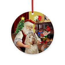 Santa's Italian Spinone Ornament (Round)