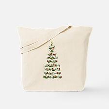 Christmas Bird tree Tote Bag