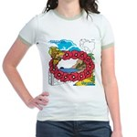 OYOOS Travel Vacation design Jr. Ringer T-Shirt