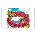 OYOOS Travel Vacation design Sticker (Rectangle 50