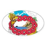 OYOOS Travel Vacation design Sticker (Oval 10 pk)