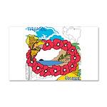 OYOOS Travel Vacation design Car Magnet 20 x 12