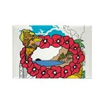 OYOOS Travel Vacation design Rectangle Magnet (100