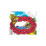 OYOOS Travel Vacation design 35x21 Wall Decal