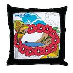OYOOS Travel Vacation design Throw Pillow