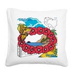 OYOOS Travel Vacation design Square Canvas Pillow