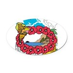 OYOOS Travel Vacation design Oval Car Magnet