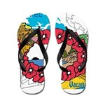 OYOOS Travel Vacation design Flip Flops