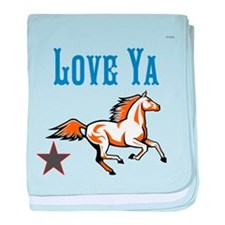 OYOOS Horse Love Ya design baby blanket