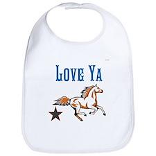 OYOOS Horse Love Ya design Bib