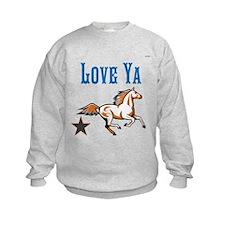 OYOOS Horse Love Ya design Sweatshirt