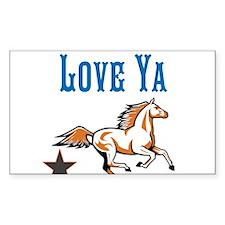 OYOOS Horse Love Ya design Decal