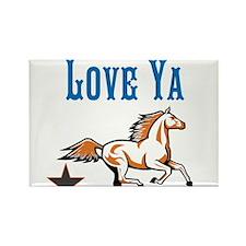 OYOOS Horse Love Ya design Rectangle Magnet