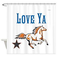 OYOOS Horse Love Ya design Shower Curtain