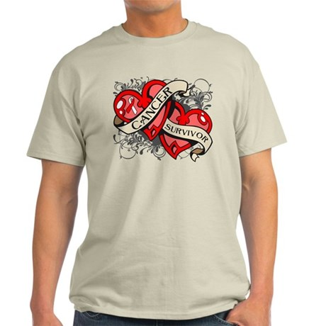 Oral Cancer Survivor Heart Light T-Shirt