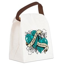Ovarian Cancer Survivor Canvas Lunch Bag