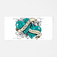 Ovarian Cancer Survivor Aluminum License Plate
