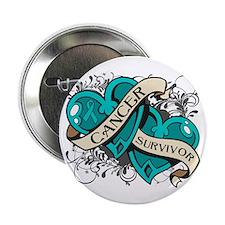 """Ovarian Cancer Survivor 2.25"""" Button"""