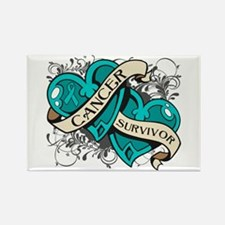 Ovarian Cancer Survivor Rectangle Magnet