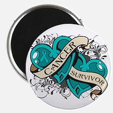 """Ovarian Cancer Survivor 2.25"""" Magnet (10 pack)"""
