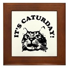It's Caturday! Framed Tile