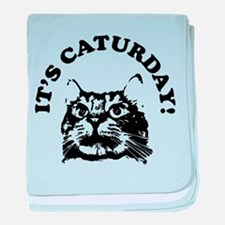 It's Caturday! baby blanket