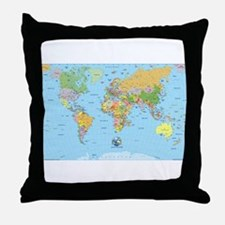 the small world Throw Pillow
