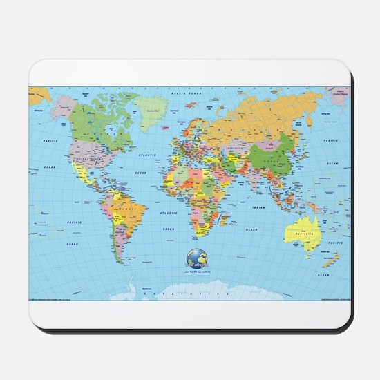 World Map Mousepads Buy World Map Mouse Pads Online CafePress - World maps online
