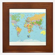 the small world Framed Tile