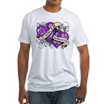 Pancreatic Cancer Survivor Fitted T-Shirt