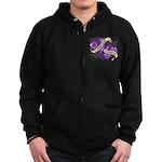 Pancreatic Cancer Survivor Zip Hoodie (dark)