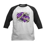 Pancreatic Cancer Survivor Kids Baseball Jersey