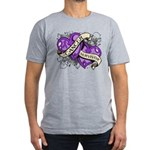 Pancreatic Cancer Survivor Men's Fitted T-Shirt (d