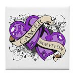 Pancreatic Cancer Survivor Tile Coaster
