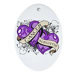 Pancreatic Cancer Survivor Ornament (Oval)