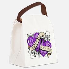 Pancreatic Cancer Survivor Canvas Lunch Bag