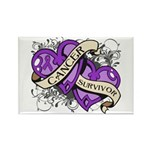Pancreatic Cancer Survivor Rectangle Magnet (100 p