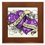 Pancreatic Cancer Survivor Framed Tile